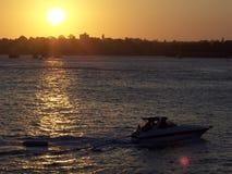 Sydney Harbor Boater Fotografering för Bildbyråer