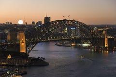 Sydney Harbor Bridge - Australia. Sydney Harbor Bridge at dusk in the city of Sydney in New South Wales in Australia Royalty Free Stock Photography