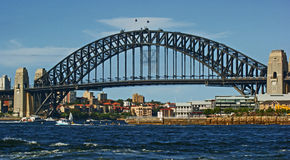 Sydney Harbor Bridge. With boats and ferries Stock Photo