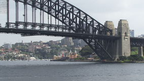 Sydney Harbor Bridge and city in distance. Sydney Harbor Bridge and the city in the distance stock footage