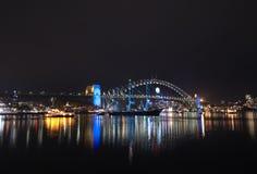 Sydney harbor bridge at dark Stock Photos
