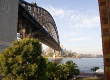 Sydney Harbor Bridge Leading to City Royalty Free Stock Photography