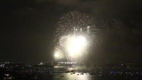 Sydney Harbor Bridge New Years Eve Fireworks stock video