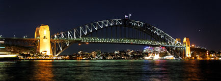 Sydney Harbor Bridge By Night. Harbor Bridge By Night, Sidney, New South Wales, Australia royalty free stock photography