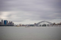 Sydney Harbor Bridge & Opera House Royalty Free Stock Images