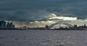 Sydney Harbor Bridge & Opera House Royalty Free Stock Photography