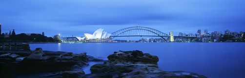 Sydney Harbor Bridge and Opera House Royalty Free Stock Images
