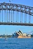 Sydney Harbor Bridge and Opera House Stock Images