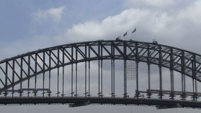 Sydney Harbor Bridge pulling out shot stock video