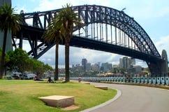 The Sydney Harbor Bridge royalty free stock photo