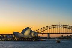 Sydney Harbor Cityscape Arkivbild