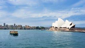 Sydney Harbor Cityscape Royaltyfri Bild