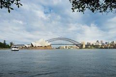 Sydney Harbor Cityscape. Sydney, Australia - February 19, 2017: View of the Sydney Harbor and cityscape stock image