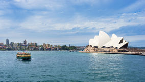 Sydney Harbor Cityscape. Sydney, Australia - February 19, 2017: View of the Sydney Harbor and cityscape royalty free stock image