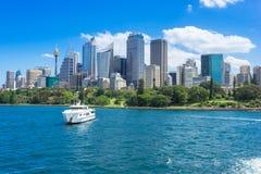 Sydney Harbor Cityscape. Sydney, Australia - February 19, 2017: View of the Sydney Harbor and cityscape Royalty Free Stock Photography