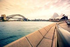 Sydney Harbor Cityscape. Sydney, Australia - February 19, 2017: View of the Sydney Harbor and cityscape Royalty Free Stock Photos