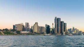 Sydney Harbor Cityscape. Sydney, Australia - February 20, 2017: View of the Sydney Harbor and cityscape stock image