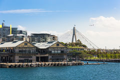 Sydney Harbor and cityscape. Sydney, Australia - February 19, 2017: View of the Sydney Harbor and cityscape royalty free stock photos