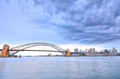 Sydney Harbor in a cloudy day Royalty Free Stock Photography