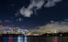 Sydney harbor and downtown buildings Stock Image