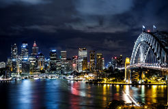 Sydney harbor and downtown buildings Stock Photo