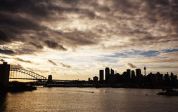 Sydney harbor and downtown buildings Stock Photography