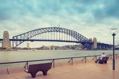 Sydney Harbor e paesaggio urbano Immagine Stock Libera da Diritti