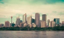 Sydney Harbor e paesaggio urbano Fotografia Stock Libera da Diritti