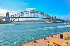 Sydney Harbor i en solig dag Royaltyfri Foto