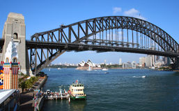 Sydney Harbor Icons, Australia. Sydney Harbour from Luna Park at Milsons Point, Australia Stock Images