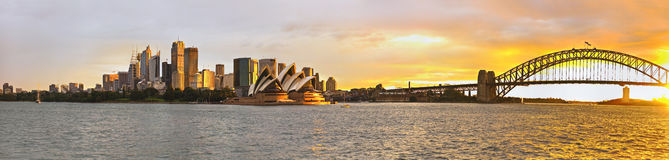 Sydney harbor large panorama Stock Image