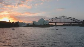Sydney Harbor-Morgenszene stock video footage