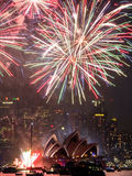 Sydney Harbor at New Years Eve Stock Photos