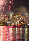 Sydney Harbor at New Years Eve Stock Images