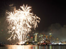 Sydney Harbor at New Years Eve Royalty Free Stock Photo