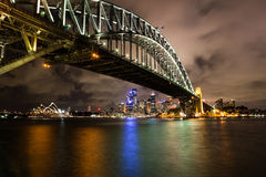 Sydney harbor at night Royalty Free Stock Photography