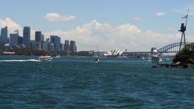 Sydney Harbor, NSW, Australia stock video footage