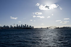 Sydney Harbor skyline. Sydney Harbour is commonly referred to as the most beautiful natural harbour in the world. Those who come to see it will understand why Royalty Free Stock Photo