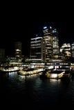 Sydney Harbor View en la noche Imágenes de archivo libres de regalías