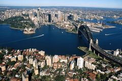 Sydney Harbour 001. An arial photo of Sydney Harbour, Australia