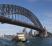 Sydney Harbour. Bridge and ferry, Sydney, Australia Stock Image