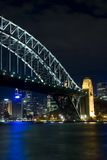 Sydney Harbour. The Sydney Harbour Bridge at night, taken from Luna Park Royalty Free Stock Images