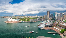 Sydney Harbour area. View from above Royalty Free Stock Photography