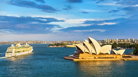 Sydney Harbour as seen from the Bridge - Australia Royalty Free Stock Images