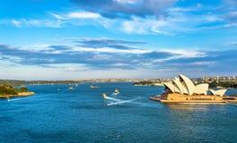 Sydney Harbour as seen from the Bridge - Australia Royalty Free Stock Photo