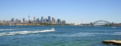 Sydney Harbour, Australia. Sydney city Skyline Panorama, Australia Royalty Free Stock Images