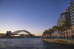 Sydney harbour in australia by night Royalty Free Stock Photography