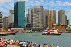 Sydney harbour, Australia. Sunny day in Sydney Harbour, Waterfront, Australia Stock Photo