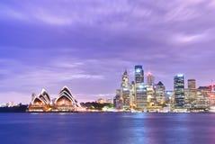 Sydney Harbour bij schemering Royalty-vrije Stock Afbeelding