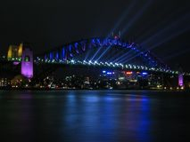 Sydney Harbour Bridge. At night Royalty Free Stock Photos